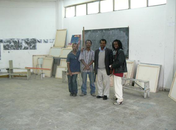 Avec des étudiants de la School of Fine