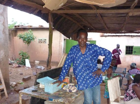 David Coulibaly dans sa cour