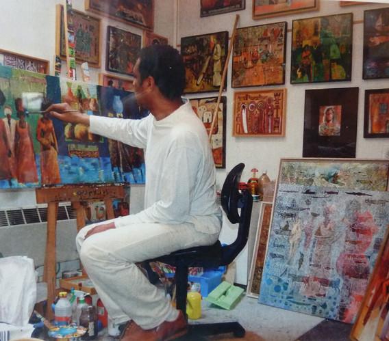 Islam dans son atelier