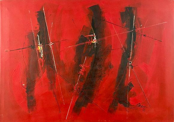 Seni Mbaye - Signes Masques I - 2005
