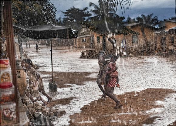 Togo sous la pluie, Lomé, 2017