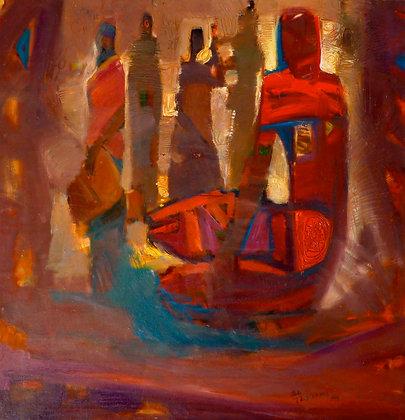 Tafari Teshome, Woman in red dress