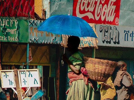 Jemina Z. - Blue Umbrella - Ethiopia, 2007