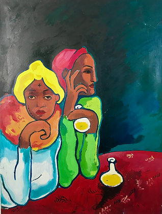Tesfaye Legesse - Deux Saltimbanques (inspired by Picasso) - 2008