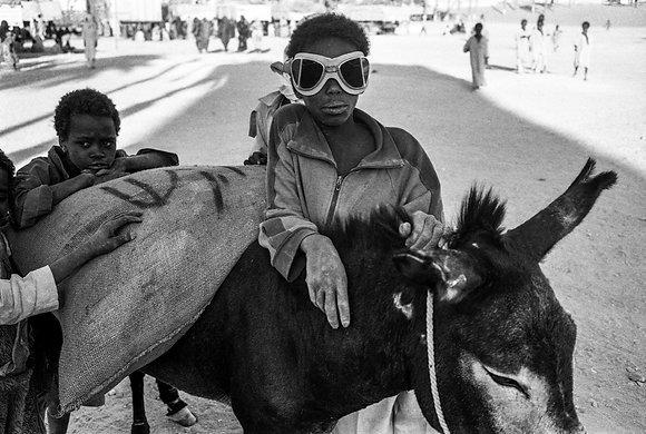 José Nicolas - Pilote d'âne, Faya-Largeau, Tchad 1987
