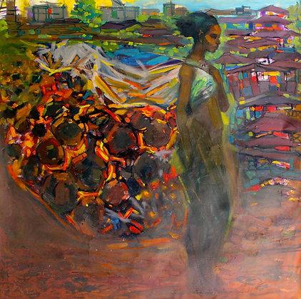 Tafari Teshome, Woman carrying fire