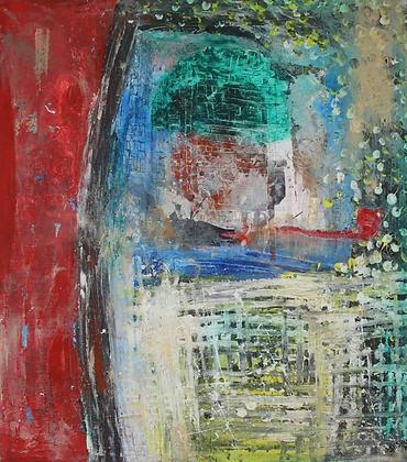 Seshie Kossi - Dans mon jardin, 90X80, 2019