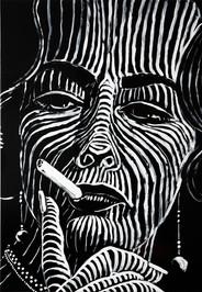 Katharina Arndt, #2 / canvas (Faye Dunaway on Mondays)