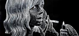 Katharina Arndt, Triptychon / canvas (Faye Dunaway on Mondays)