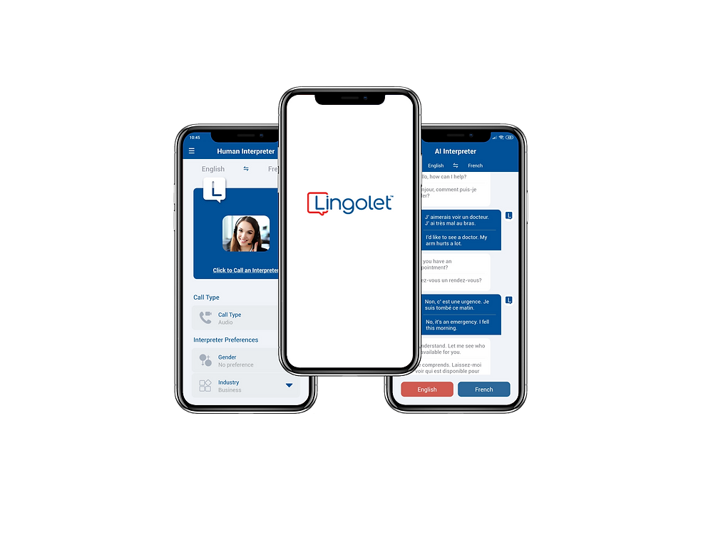 Lingolet Hybrid interpreting mobile application