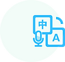 Translate with AI in twelve languages.