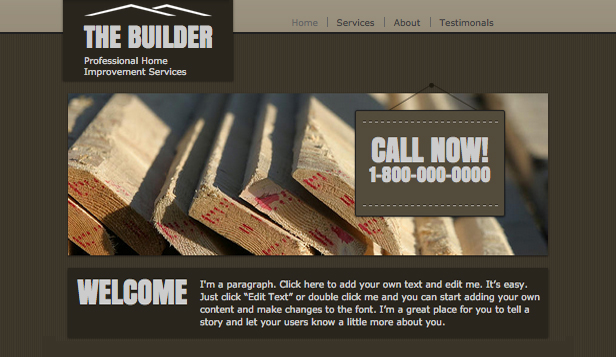 Services & Maintenance website templates – Home Improvement