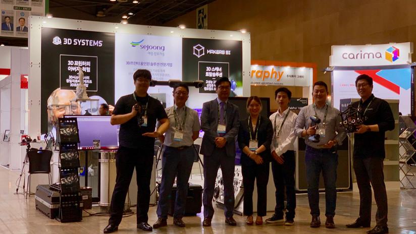 Inside3DPrinting 2019 HyperScan & ZG-Track 메이커스에스아이 팀