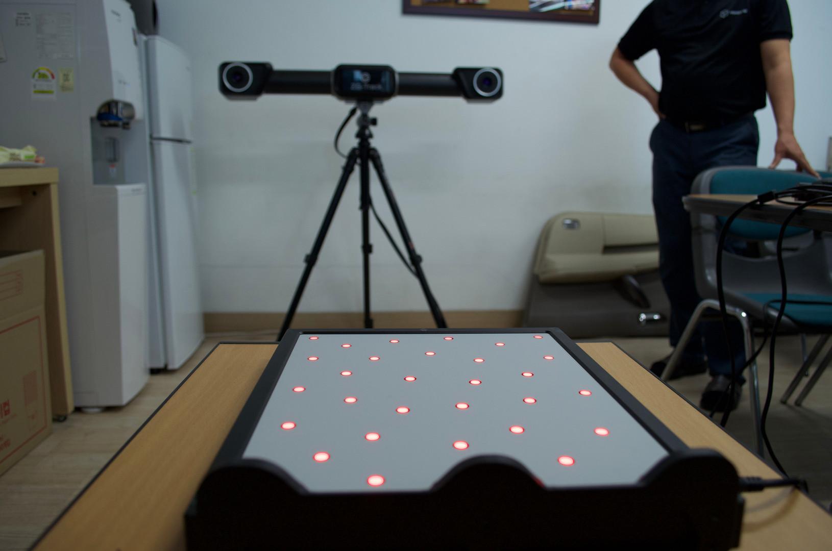 HyperScan과 ZG-Track 사이 칼리브레이션 준비