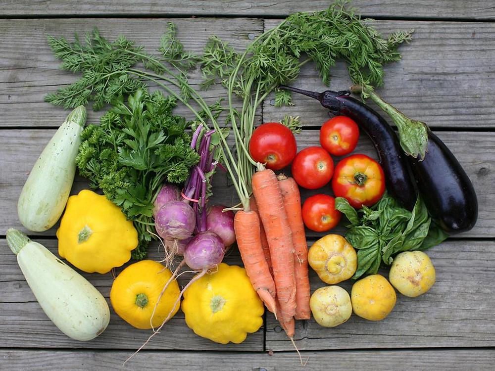 légumes d'origine biologique