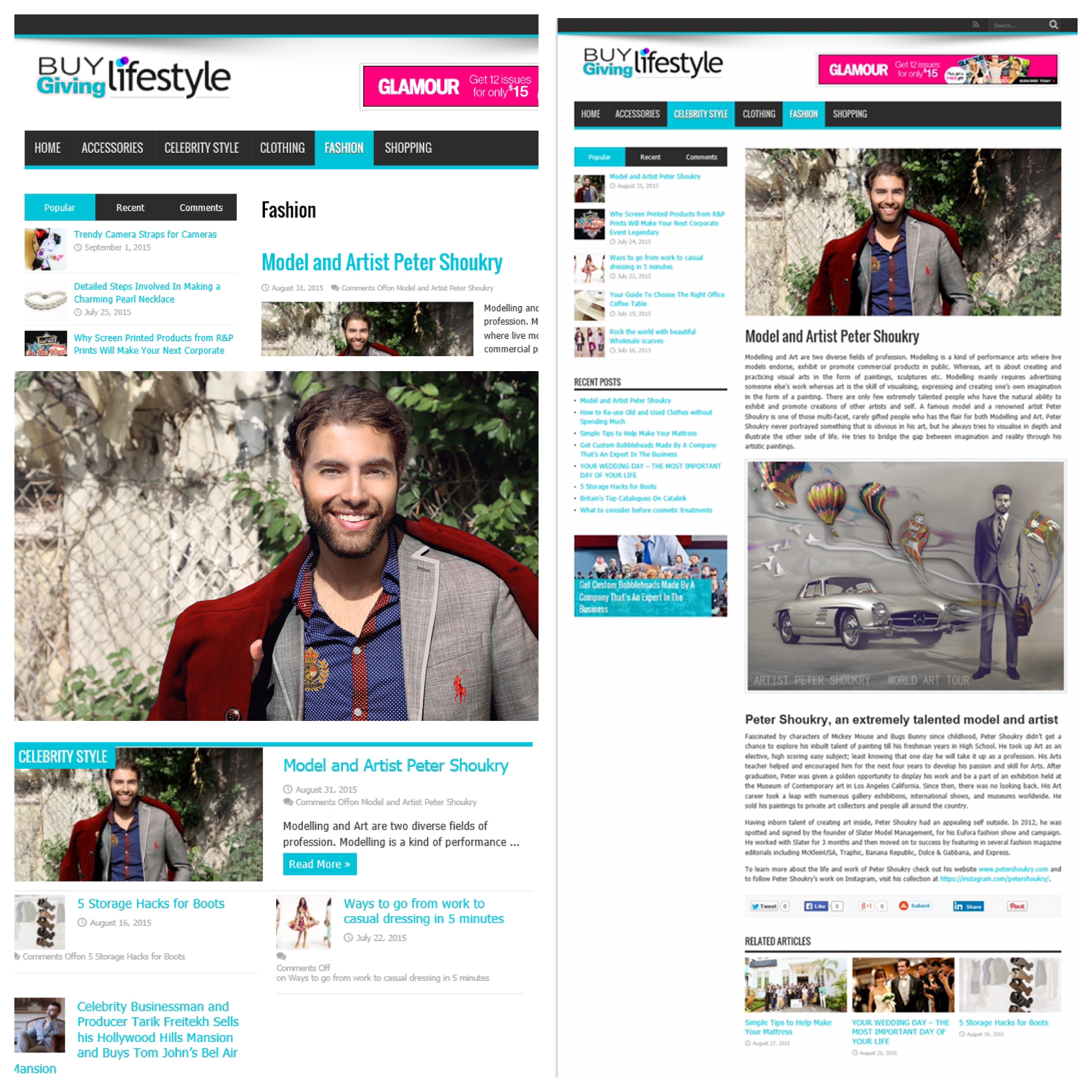Featured in Buy Giving Lifestyle Mag