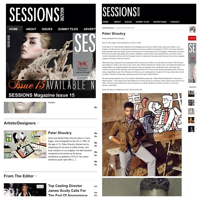 Featured in Sessions magazine