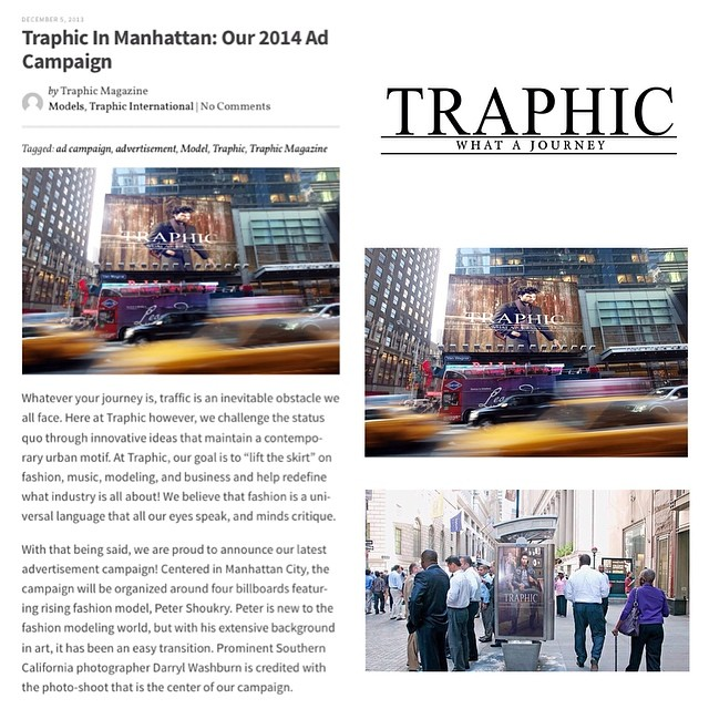 Traphic Billboard press in NY
