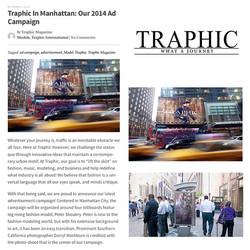 Traphic Billboard press in NY