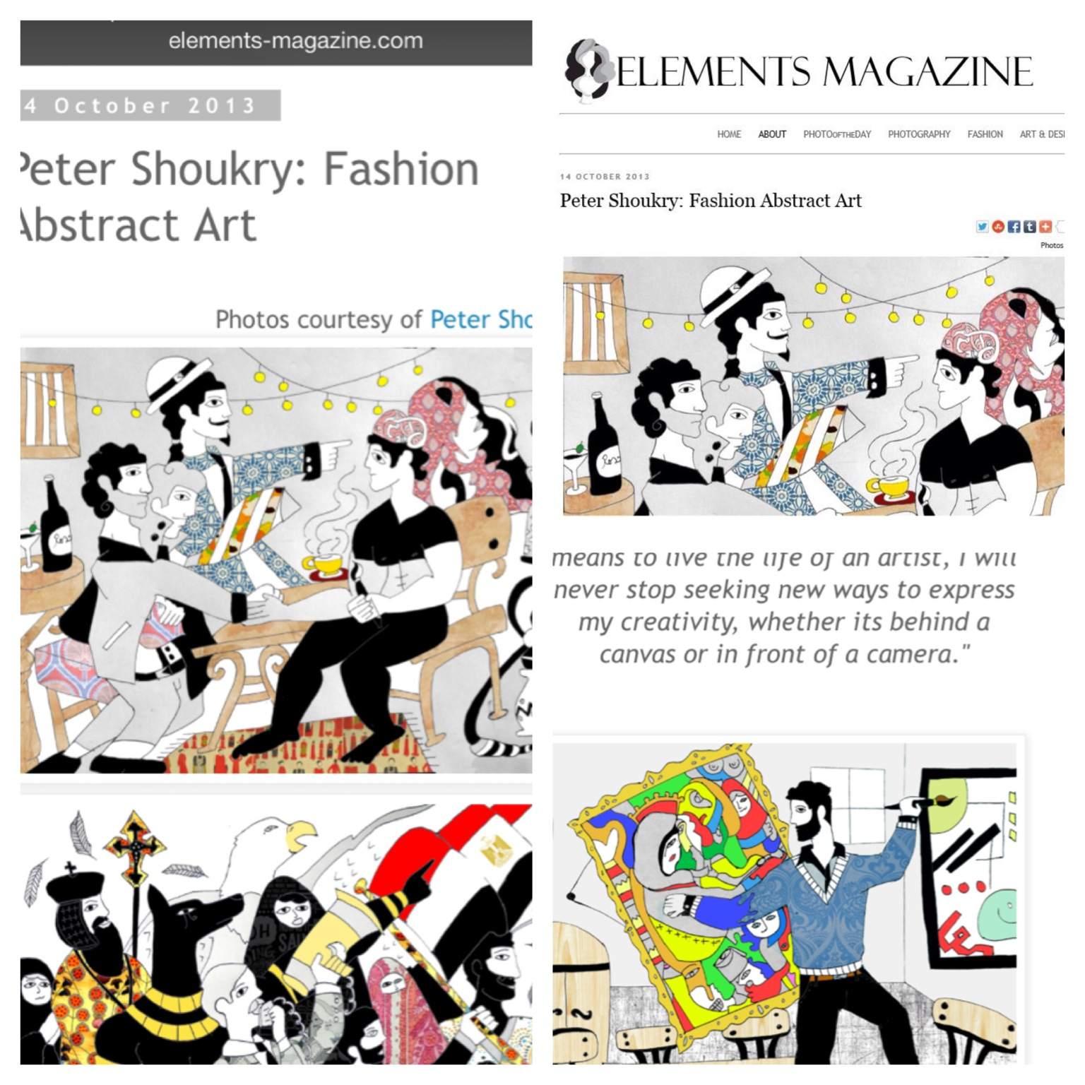 Featured in Elements Magazine