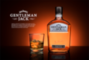 jack daniels gentleman jack whisky advert product photography
