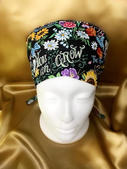 Flower Power Scrub Hat