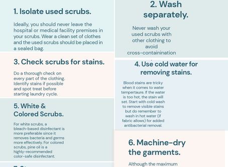 cleaning & protecting your scrubs under covid-19