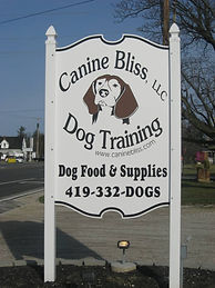 Canine Bliss Roadside Sign