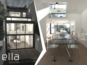A renovation of a maison de maître into a modern, spacious, open house. Let the sun shine..