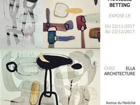 Ella Architecture expose Francois Betting, vernissage le 22 novembre à 18 heures.