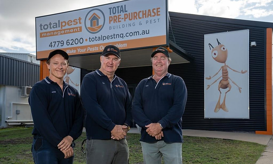 Chris, Noel and Jacob from Total Pre Purchase Building and Pest, building inspectors Townsville and North Queensland