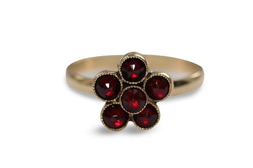 Victorian garnet cluster ring