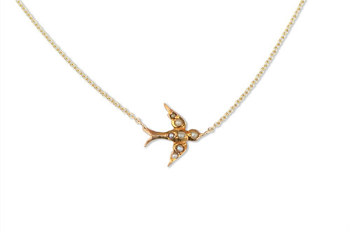 Victorian swallow necklace