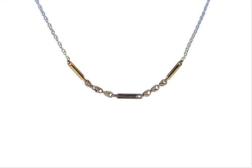 Victorian fancy link chain 9ct yellow gold
