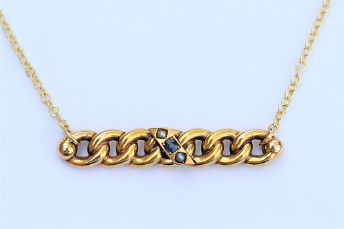 Suffragette chain link necklace