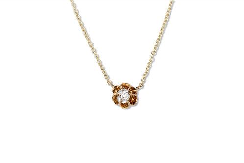 Old cut diamond pendant in 9ct yellow gold