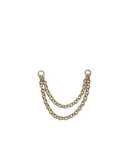 Detachable 2 row ear chain