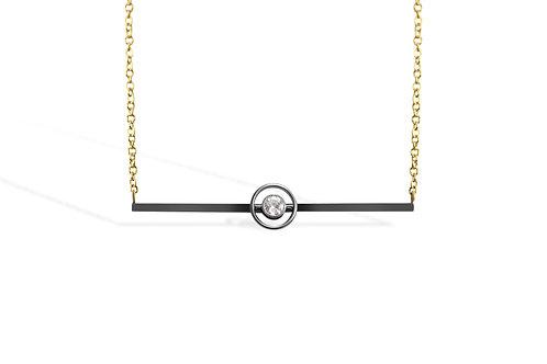 Edwardian old cut diamond bar necklace