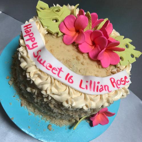 Hawaiian Chantilly Cake  (8 inch serves 10-12)