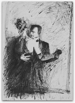 Beadart ריקוד ציור בשמן מירי אגסי