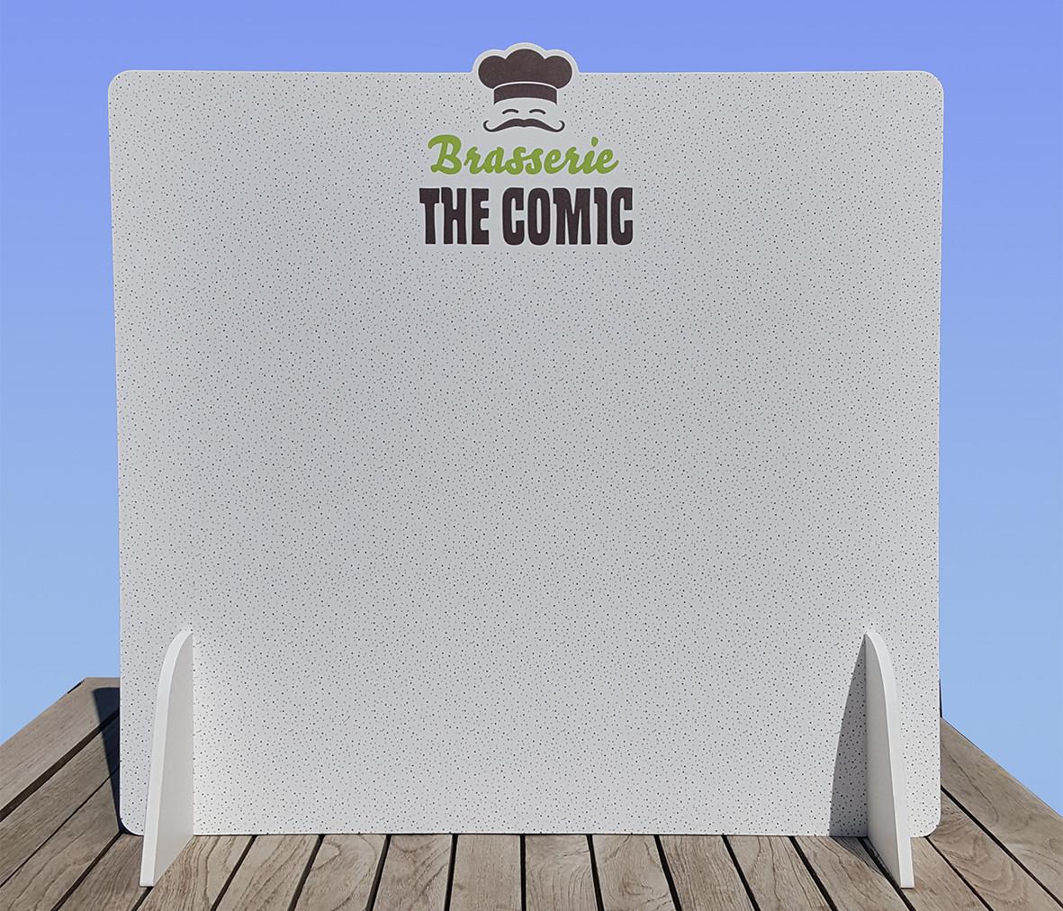 Tafelscherm The Comic front