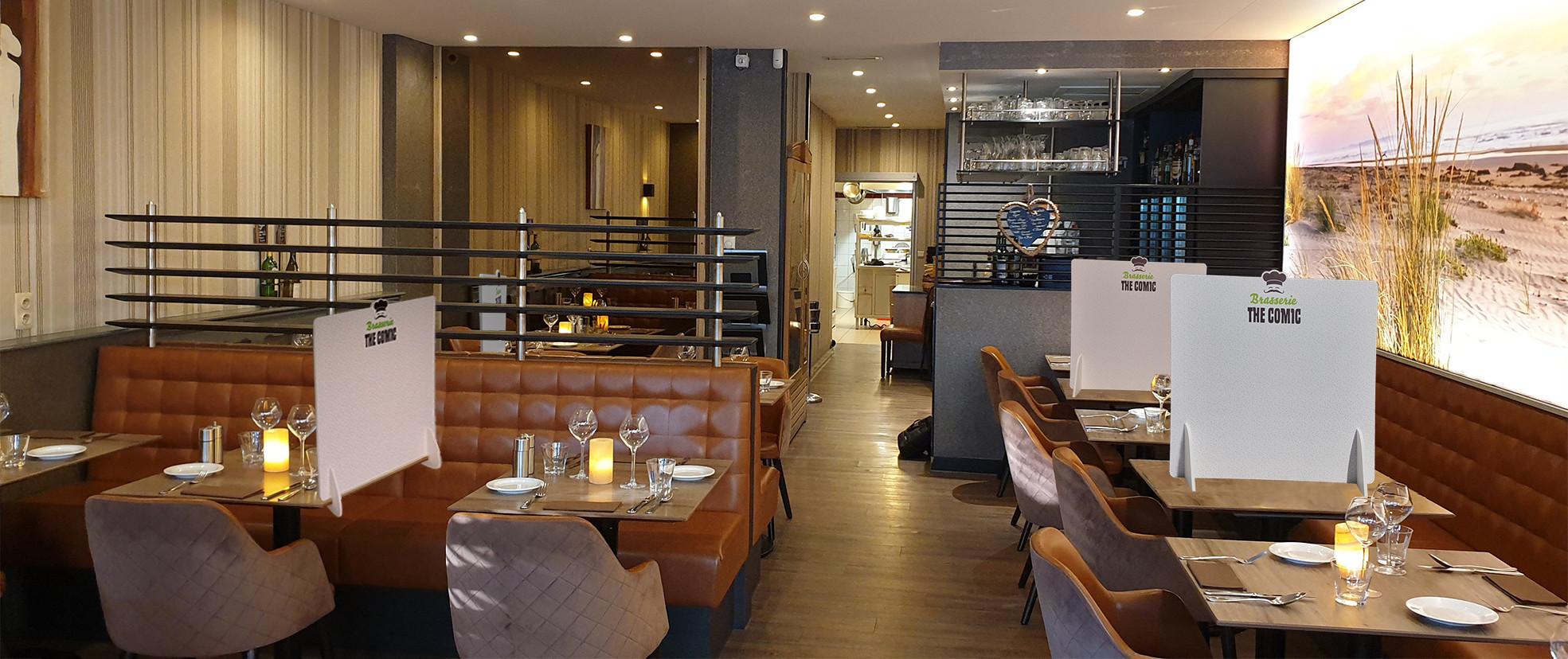 Tafelschermen in restaurant