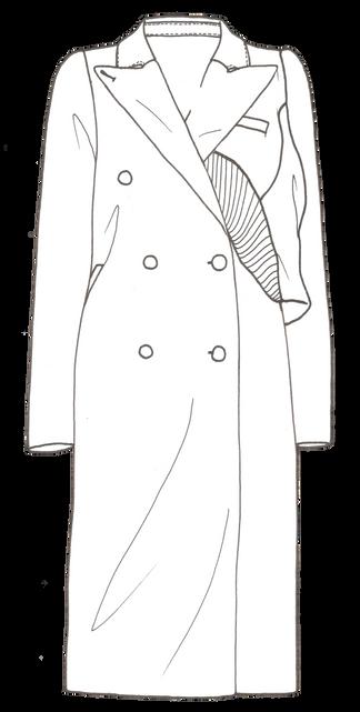 Veste longue femme - Création personnelle