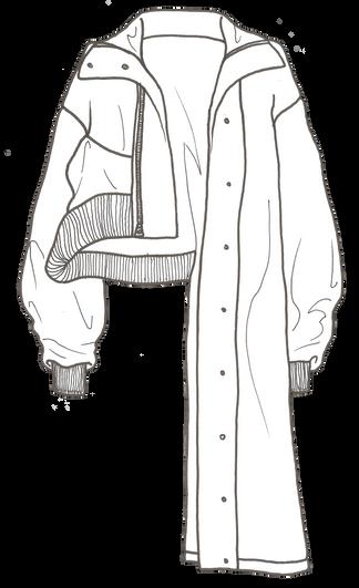 Manteau asymétrique femme - Création personnelle