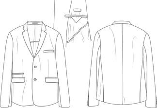 Veste costume homme - modèle d'étude
