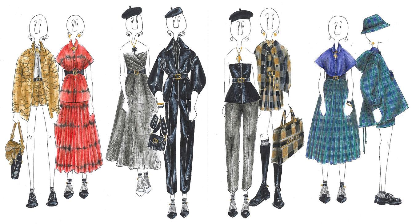 Illustration de mode Dior fall 2020
