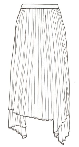 Jupe asymétrique femme - Juun.J
