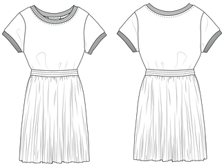Robe t-shirt fille - Little Marc Jacobs
