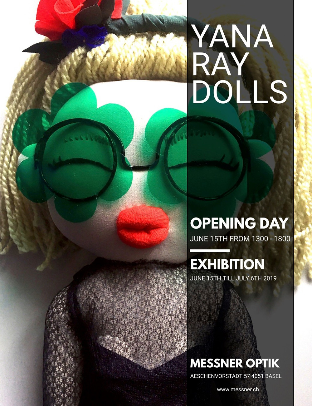 During Art Basel'19 week Yana Ray Dolls collection was presented by Messner Optik in Basel.