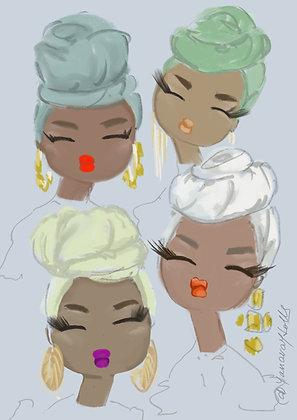 African turbans